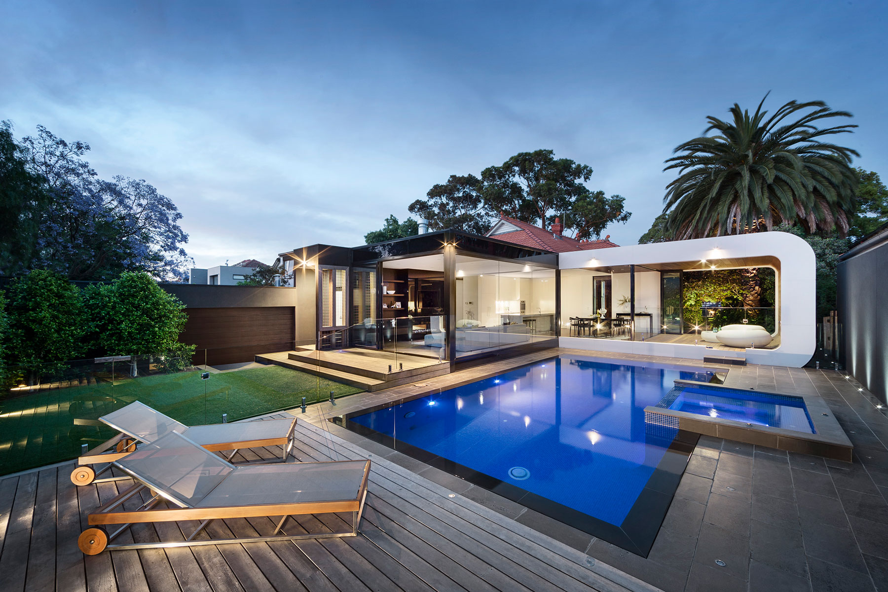 Heritage home gets a bold contemporary extension for Pool area designs