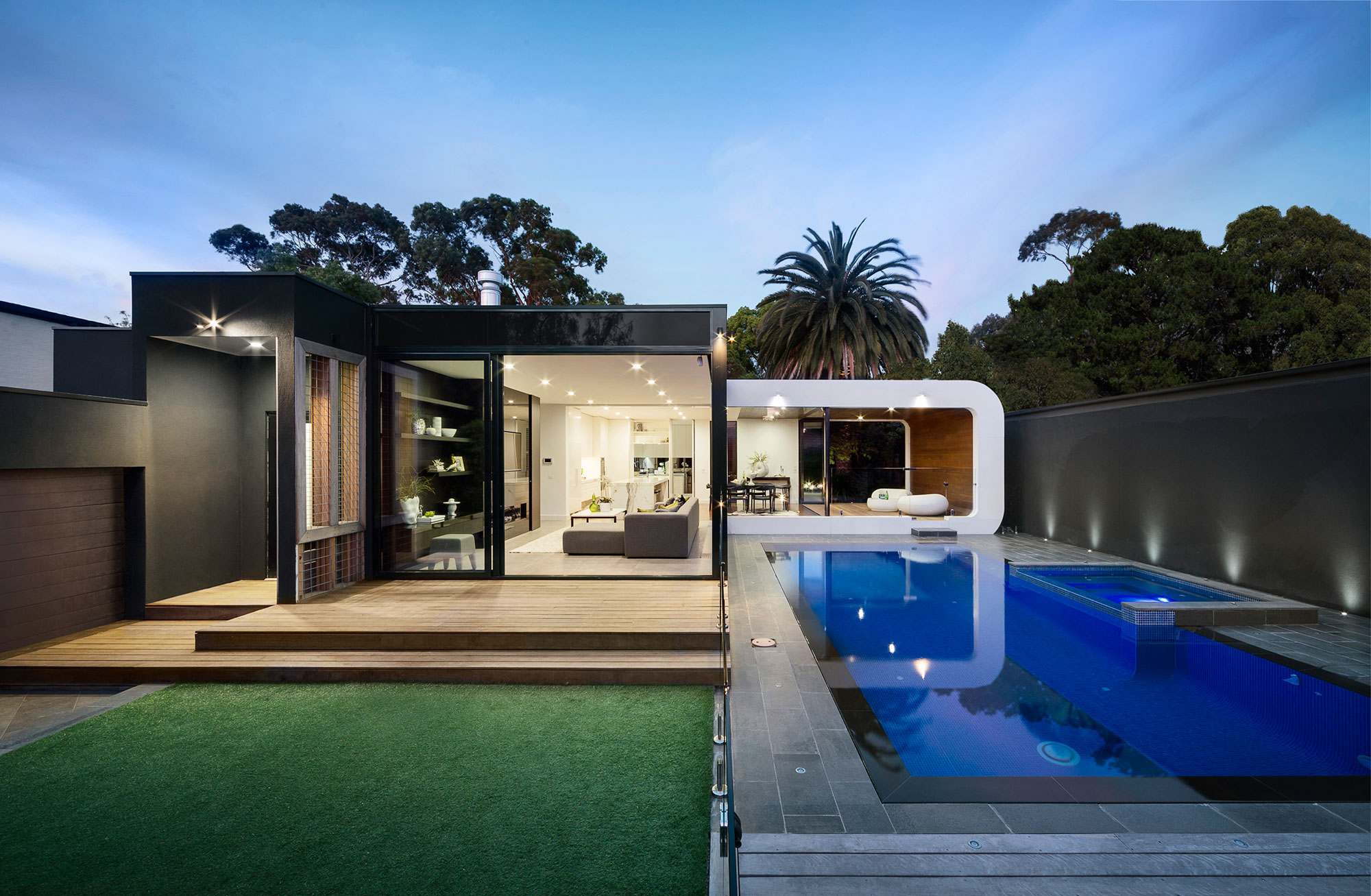 excellent exterior house design. Curva House outdoor pool Heritage Home Gets A Bold  Contemporary Extension