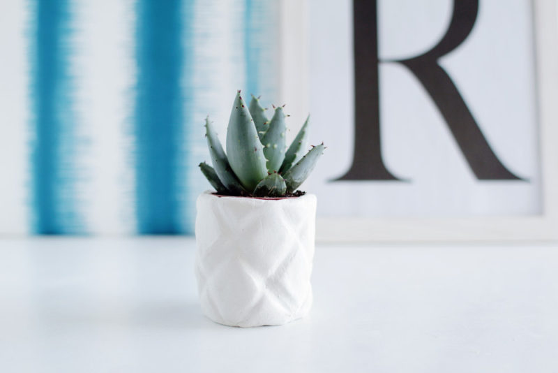 DIY Air Dry Clay Pineapple Planter