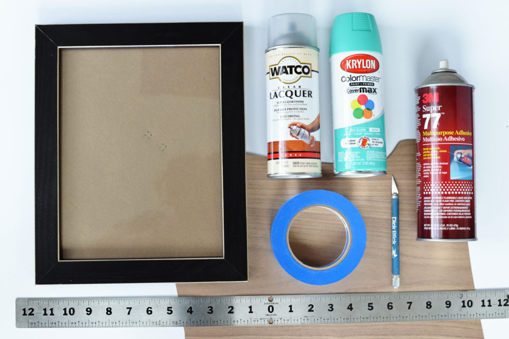 DIY veneer frame supplies
