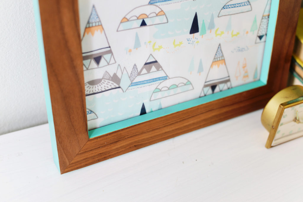 DIY veneered wood frame