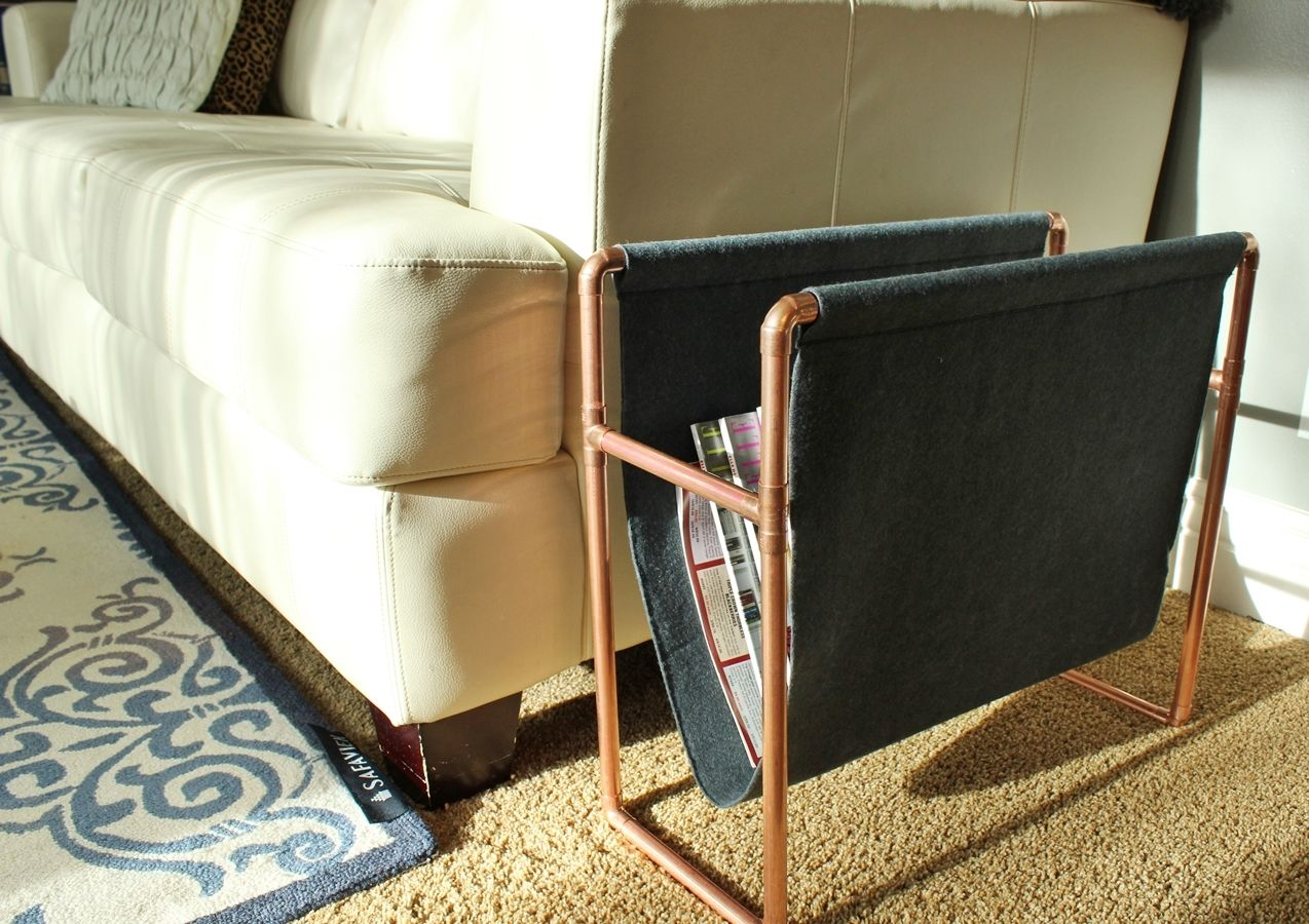 Chic DIY Copper Magazine Holder: How to Make this