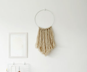 Easy DIY Yarn Fringe Wall Hanging