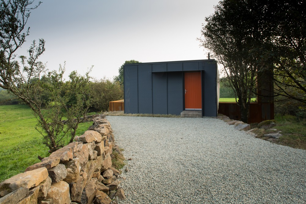 Irish-container-home-orange-entrance