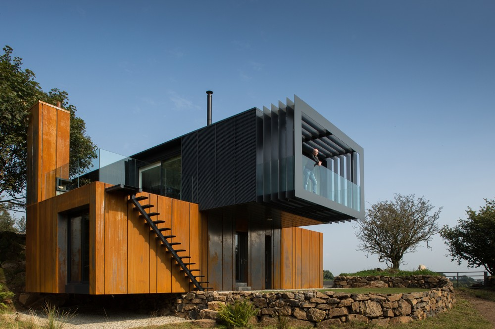 Shipping Container Home Acts Like A Sculpture In The Irish Land on mobile home designs, box home designs, modern home designs, warehouse home designs, cottage home designs, shipping containers as homes, steel home designs, straw bale home designs, trailer home designs, wood home designs, barn home designs, pavilion home designs, small home designs, stone home designs, rammed earth home designs, prefab home designs, pallet home designs, container house designs, container homes plans and designs, shipping containers into homes,