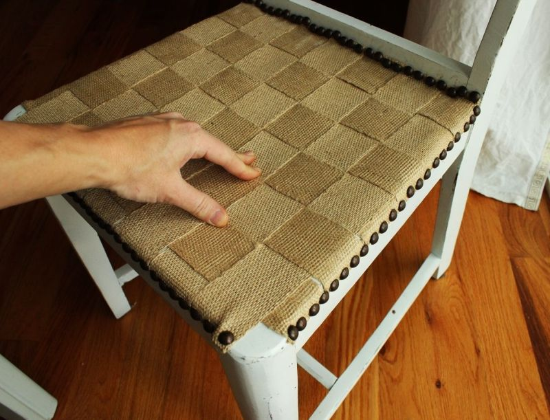 Jute chair makeover project