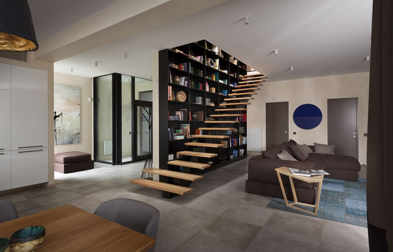 Kiev-residence-living-space-staircase