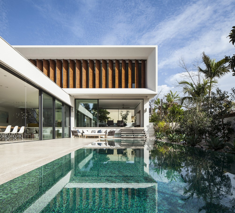 Modern Mediterranean Residence Built Around A Pool