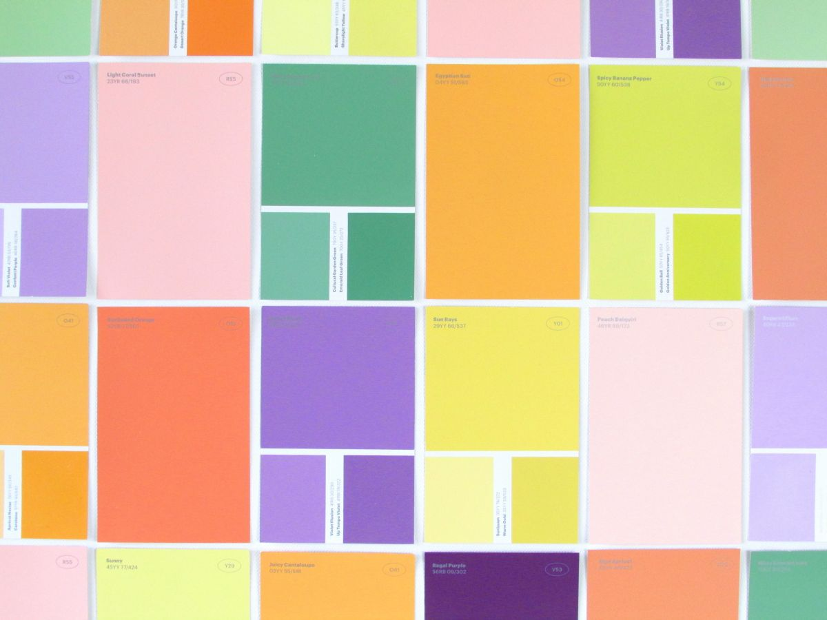 Easy Paint Swatch Wall Art