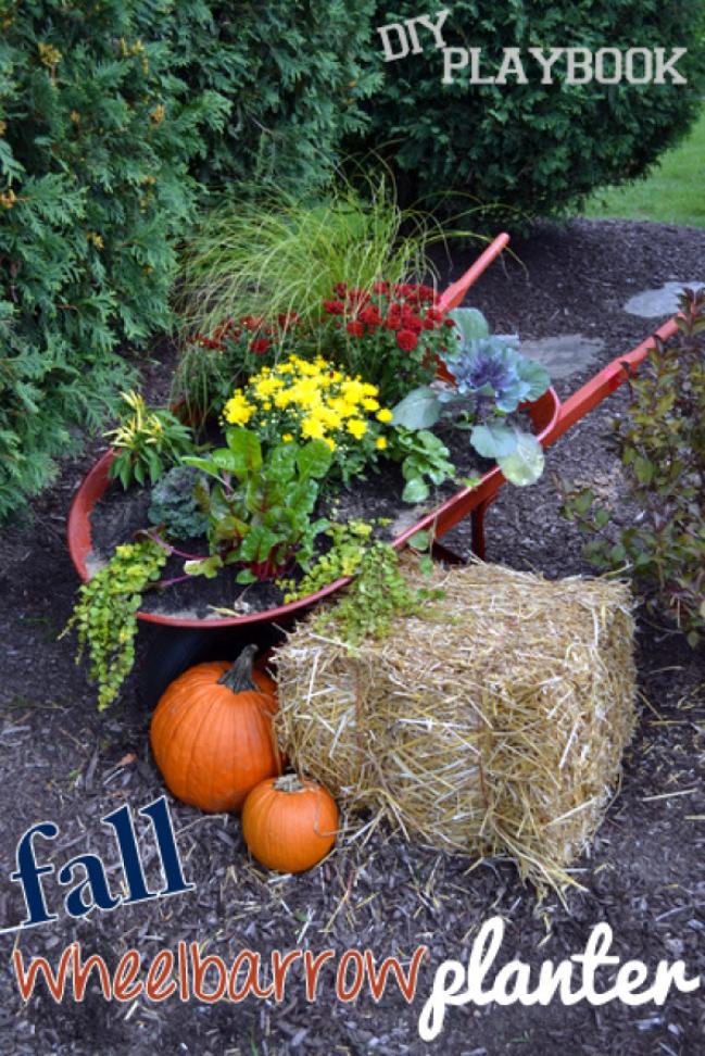 landscaping ideas Wheelbarrow Planter