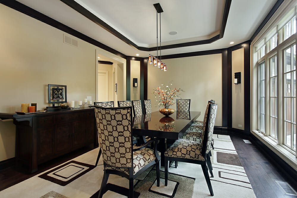 tray ceiling White Tray Ceiling
