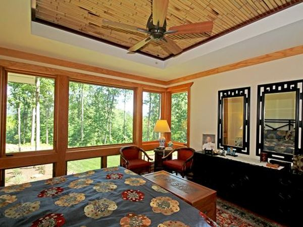 tray ceiling Wooden Recessed Ceiling