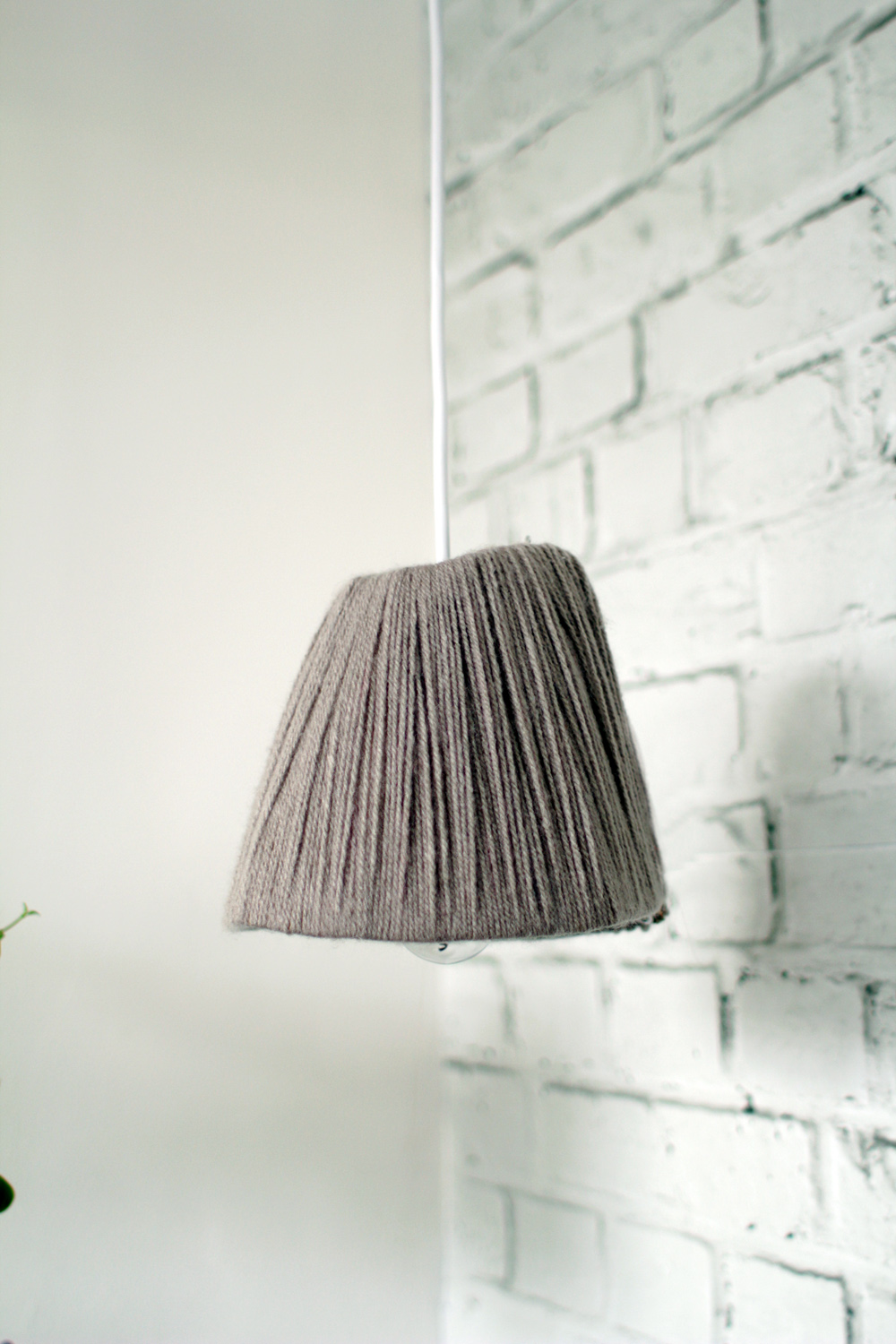 Yarn wrapped lampshade 21