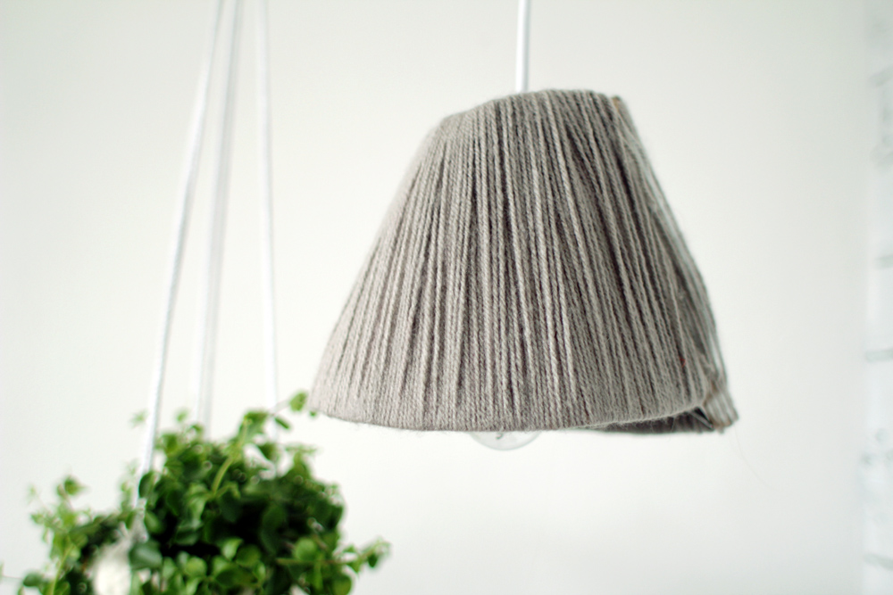 Yarn wrapped lampshade 24