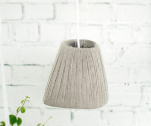 DIY Yarn Wrapped Lighting Feature