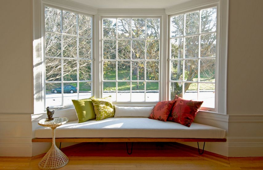 Nice Modern Bay Window Styling Ideas