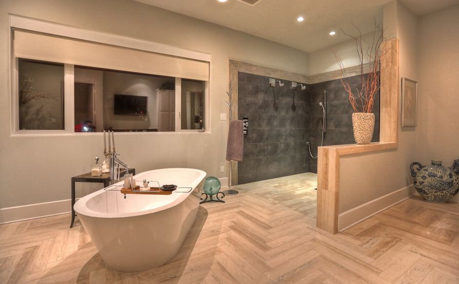 herringbone bathroom floor.  How To Always Make The Most Of Your Herringbone Floors