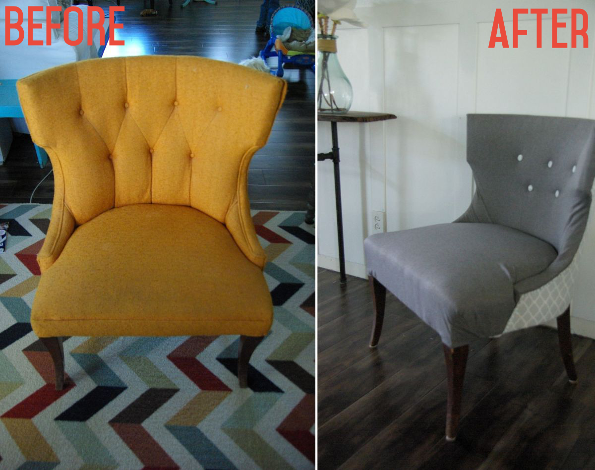 No-Sew Full Reupholster Chair