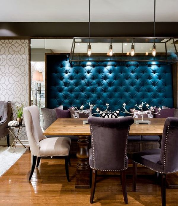 Upholstered Walls In The Dining Room.