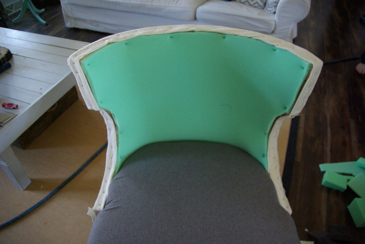 No sew full reupholster chair for How to reupholster a chair