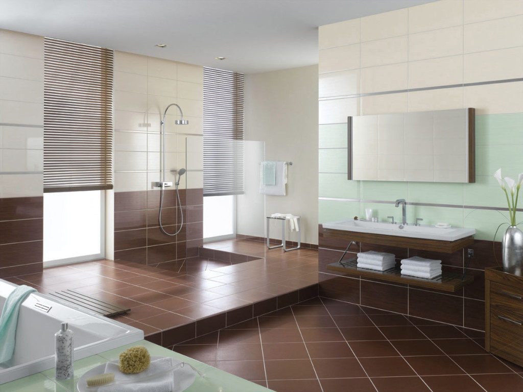 living room wall tiles design. 16  Chocolate 20 Functional Stylish Bathroom Tile Ideas