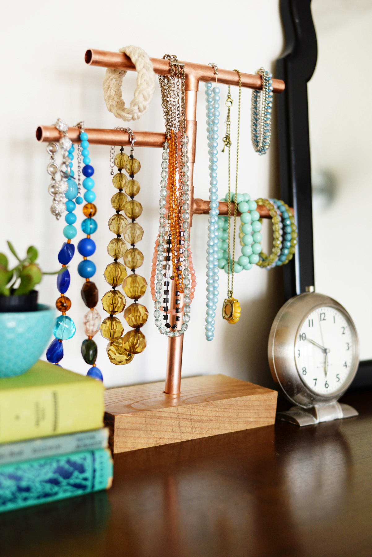 copper pipe jewelry holder DIY