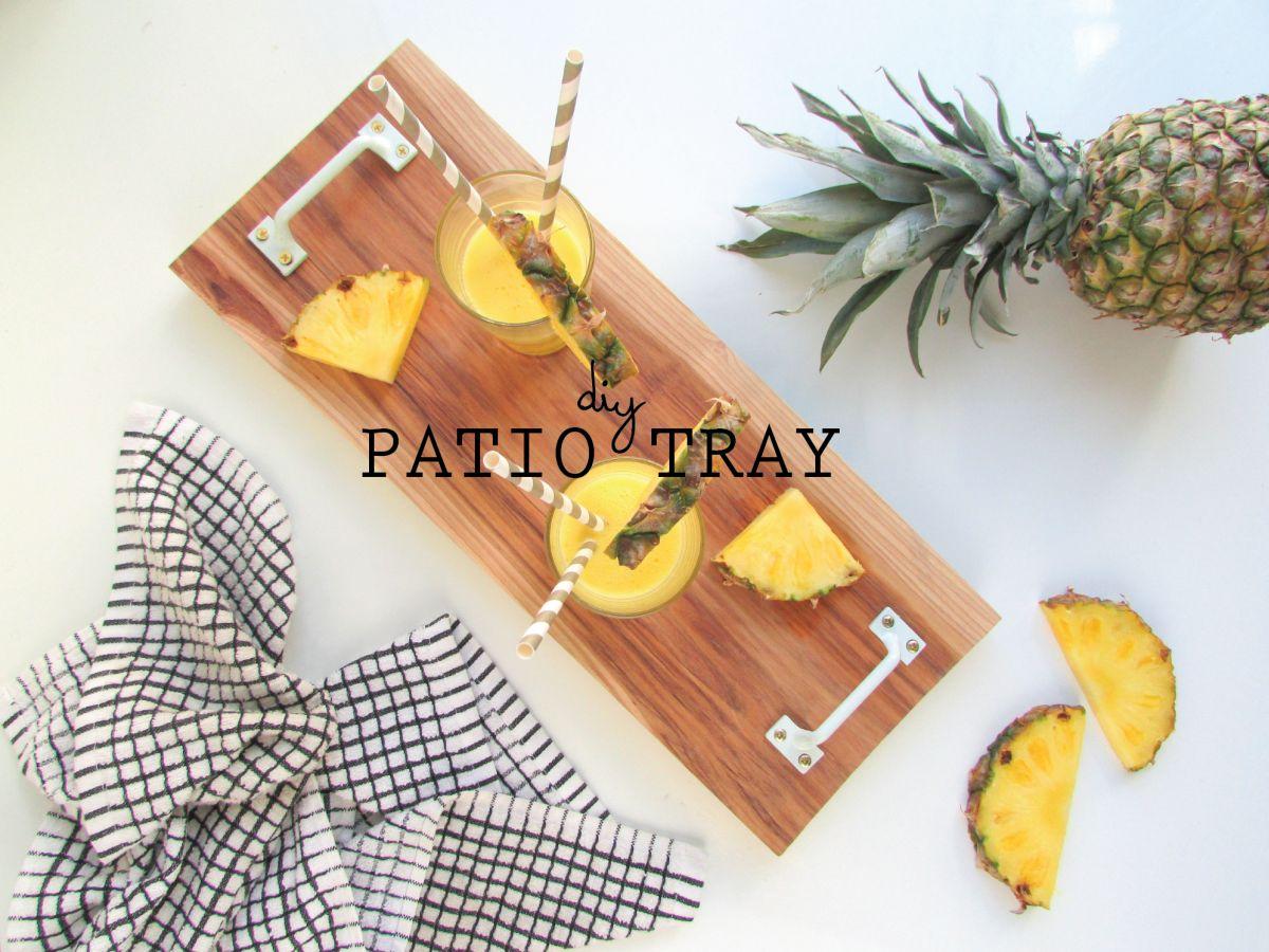DIY Serving Patio Tray