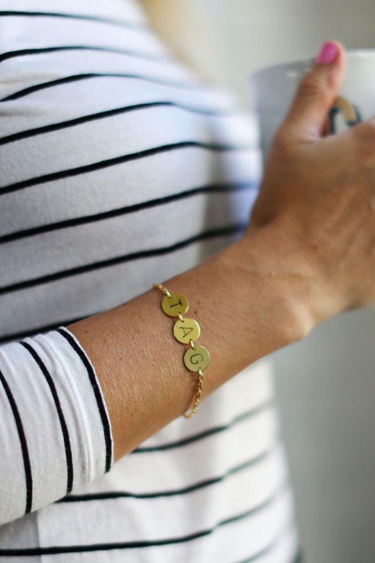 diy stamped bracelet