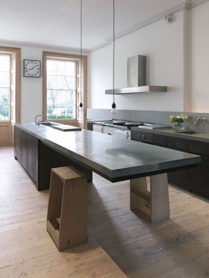 Cantilevered Tables Floating In Modern Luxury Homes : extension of the kitchen floating counter from www.homedit.com size 733 x 977 jpeg 77kB