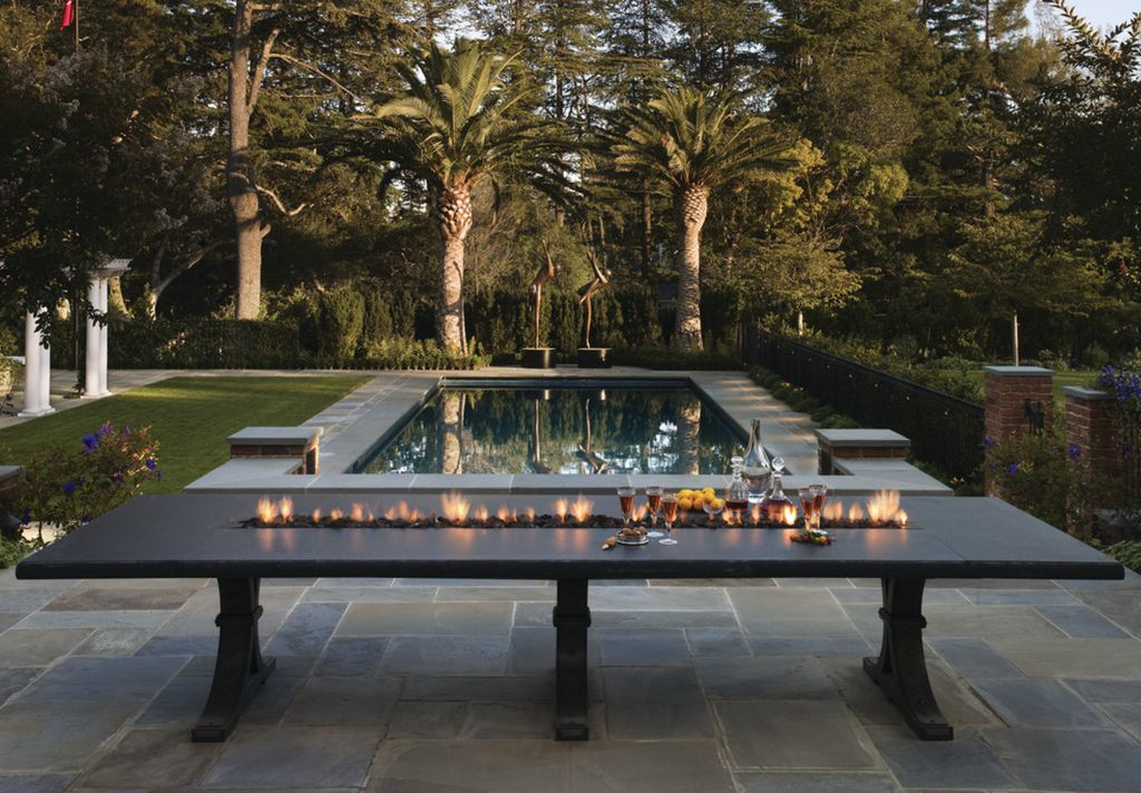 Introducing Firepit Tables A Fiery Combination Of Functions : firepit rectangular dining table outdoor from www.homedit.com size 1024 x 712 jpeg 149kB