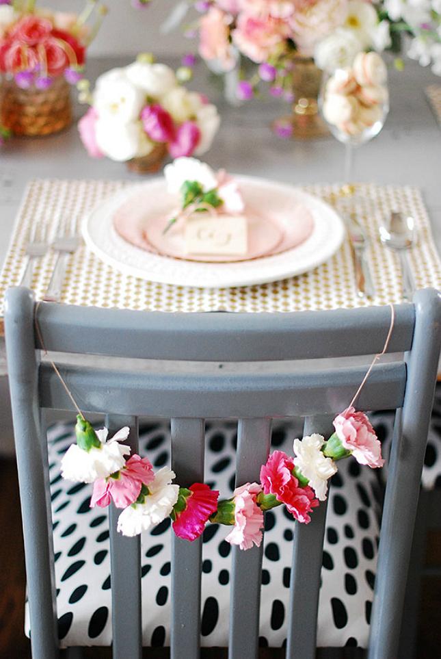 flower chair garland