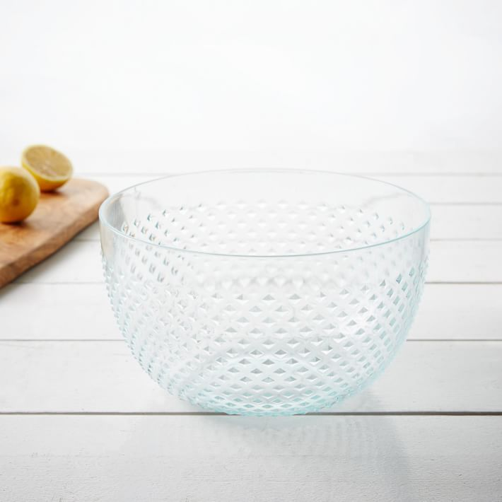 hobnail serving bowl