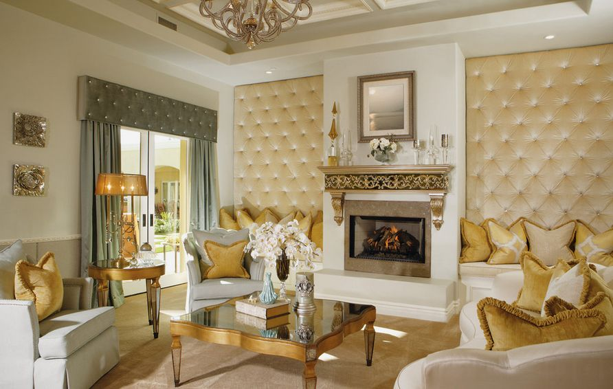 Upholstered Living Room Walls