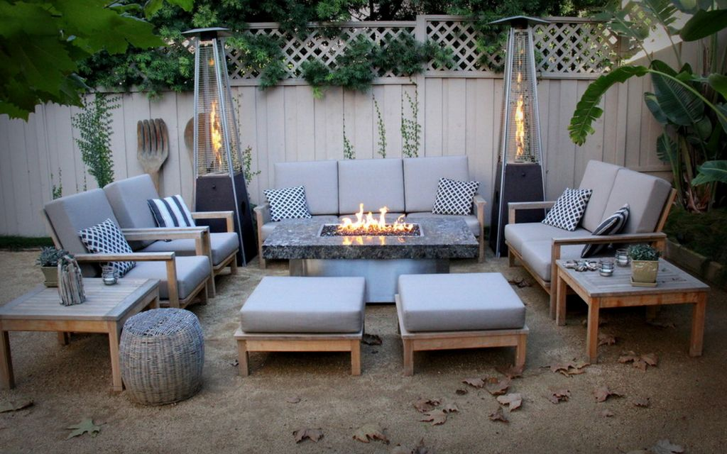 introducing firepit tables a fiery combination of functions. Black Bedroom Furniture Sets. Home Design Ideas