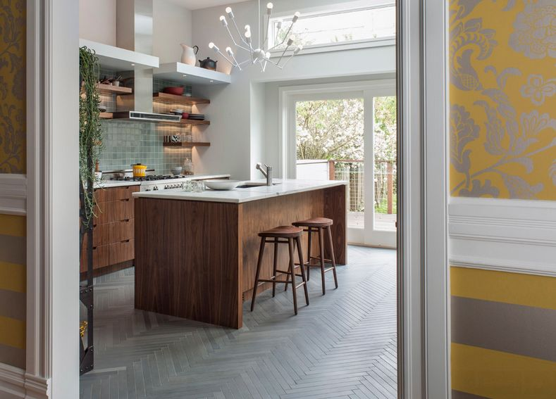 Modern Kitchen Old House how to always make the most of your herringbone floors