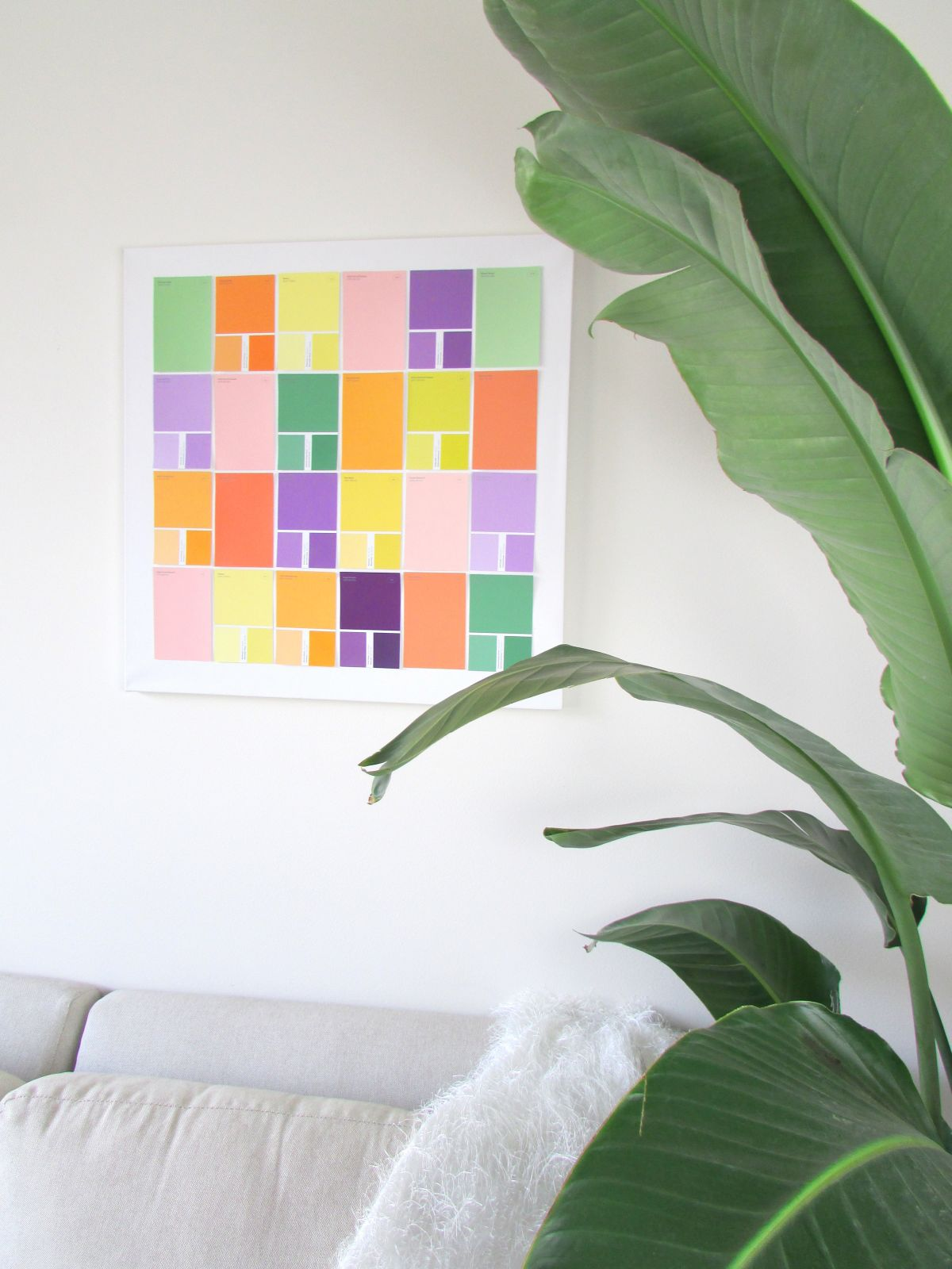 Cheap Wall Art Made From Paint Samples