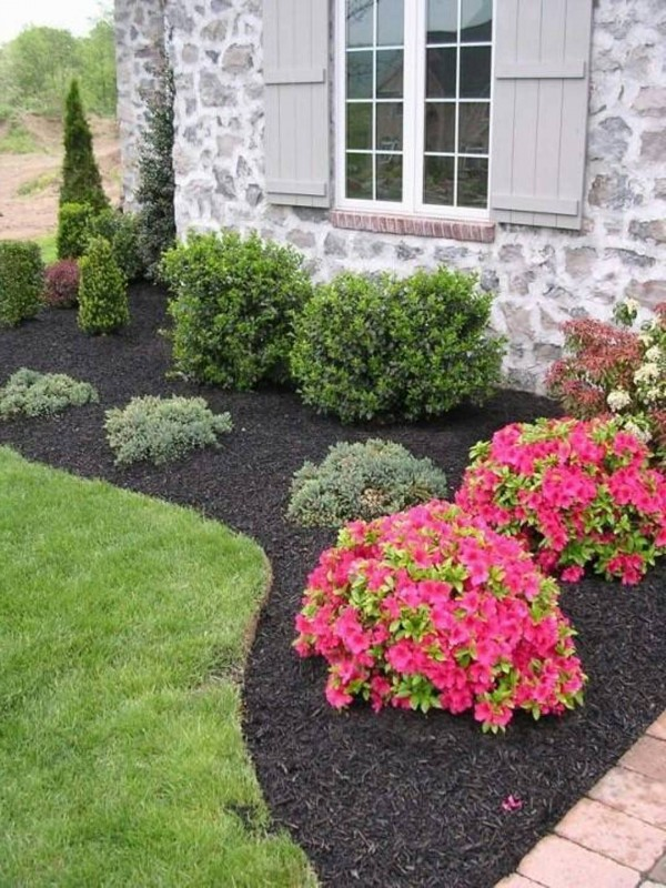 10 front yard landscaping ideas for your home for Easy care shrubs front house