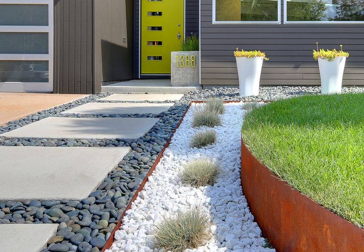 10 unique texture - Modern Front Yard Garden Ideas