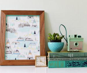 DIY Color Pop Veneered Frame