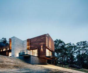 Modern Family Home Cantilevers Over The Australian Landscape