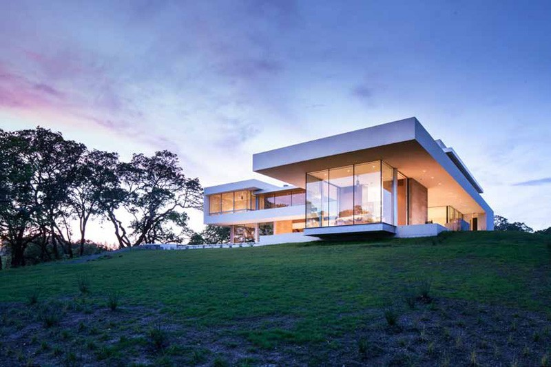 Modern vineyard house naturally blends function and comfort for Winery floor plans by architects