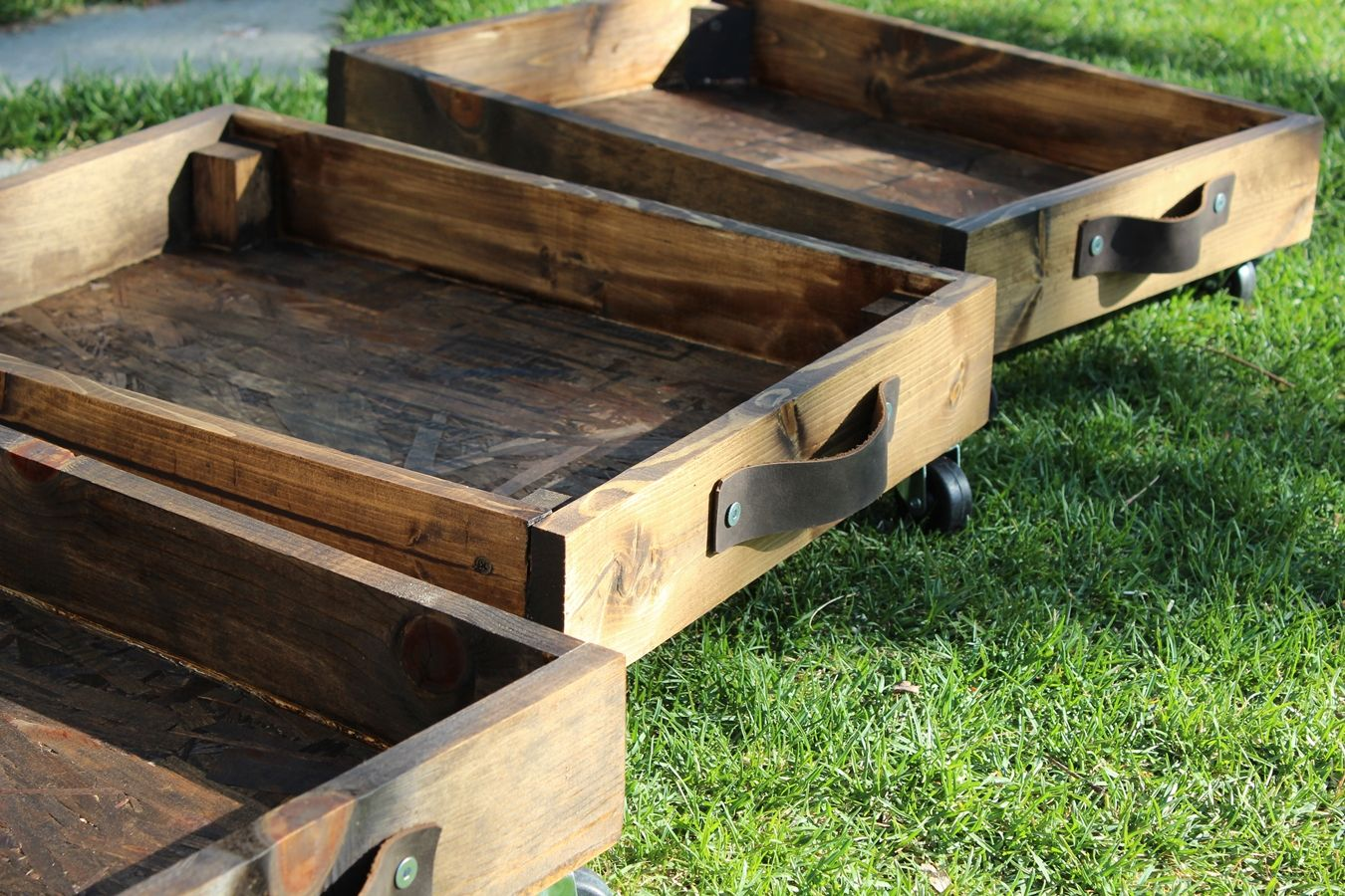 DIY Rolling Storage Cart