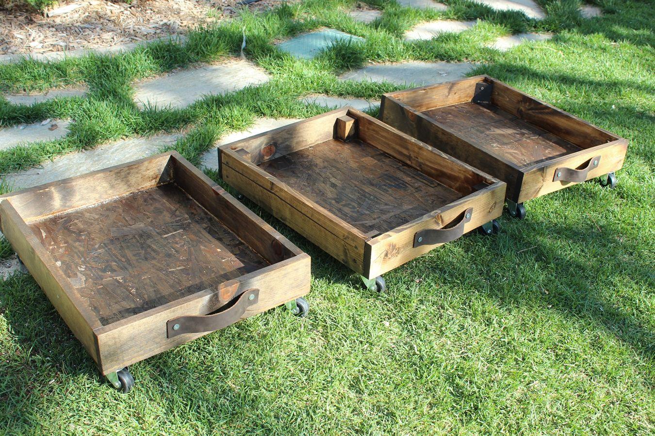 DIY Rolling Storage Cart