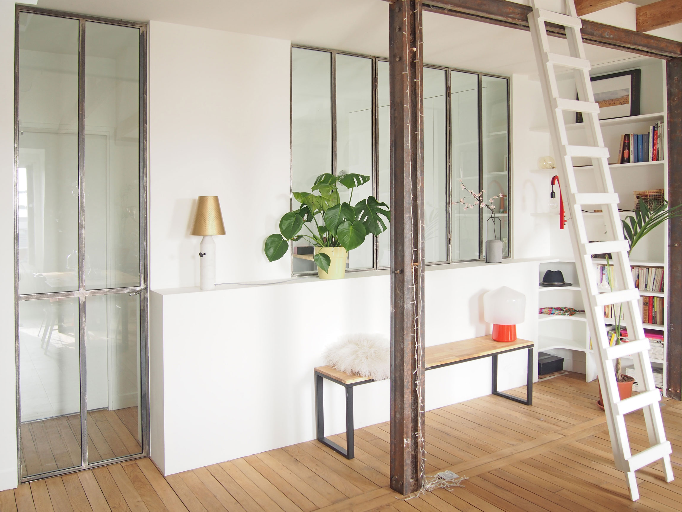 Renovation-of-an-Apartment-in-Paris-ladder