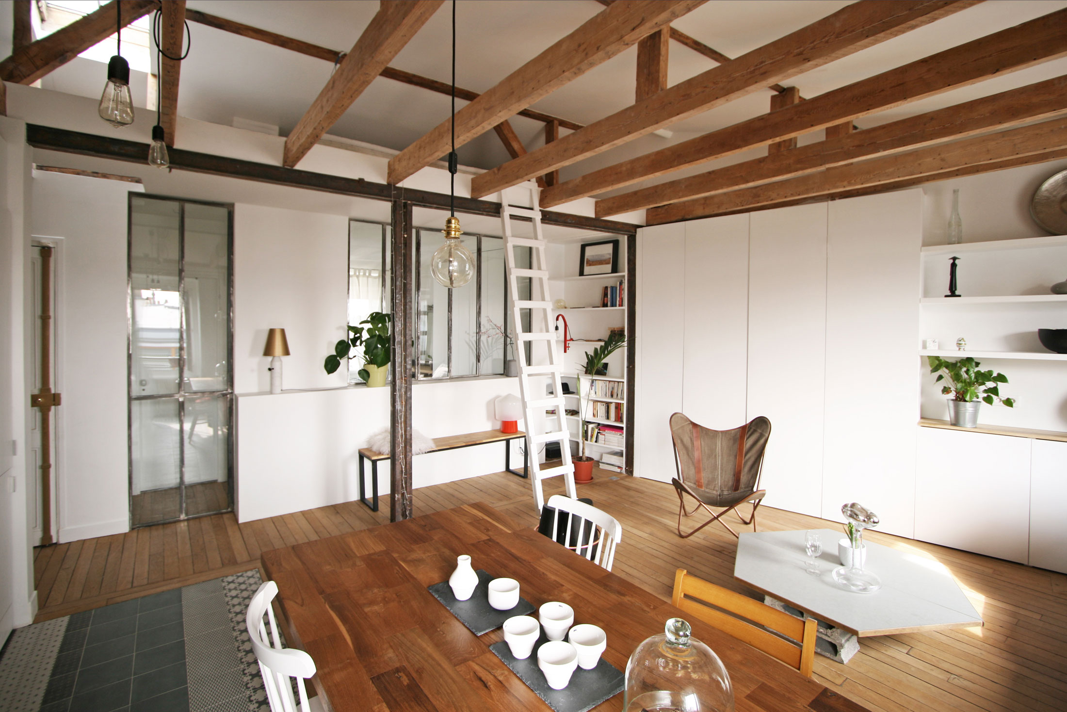 Renovation-of-an-Apartment-in-Paris-open-floor-plan