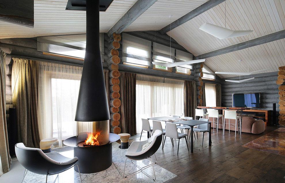 Wooden-Cottage-open-floor-plan