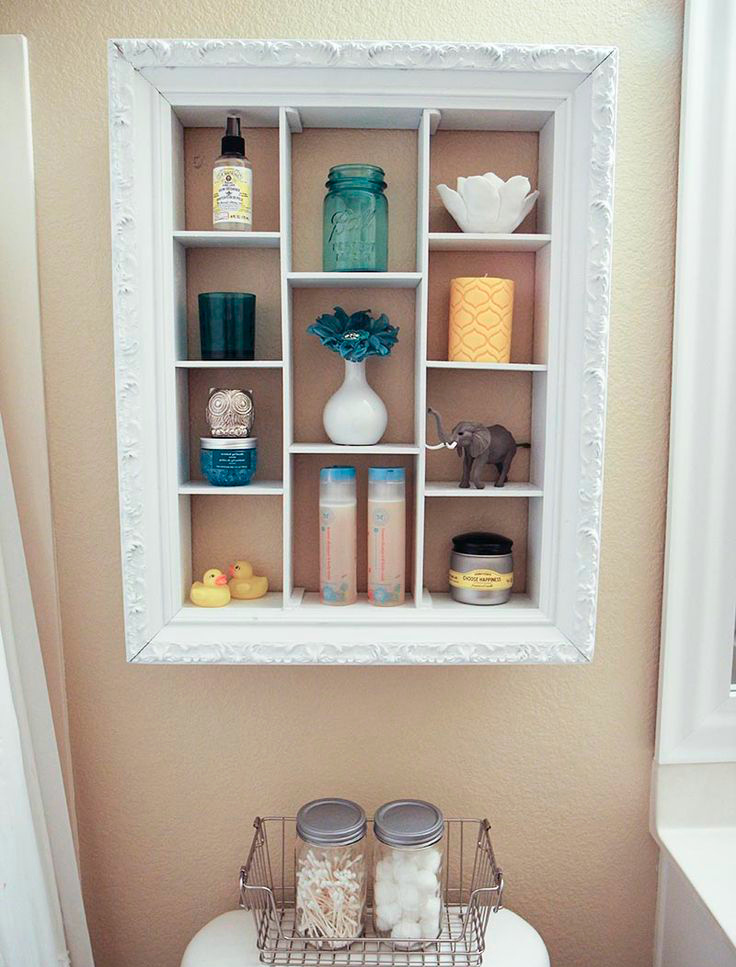 bathroom shelf frame