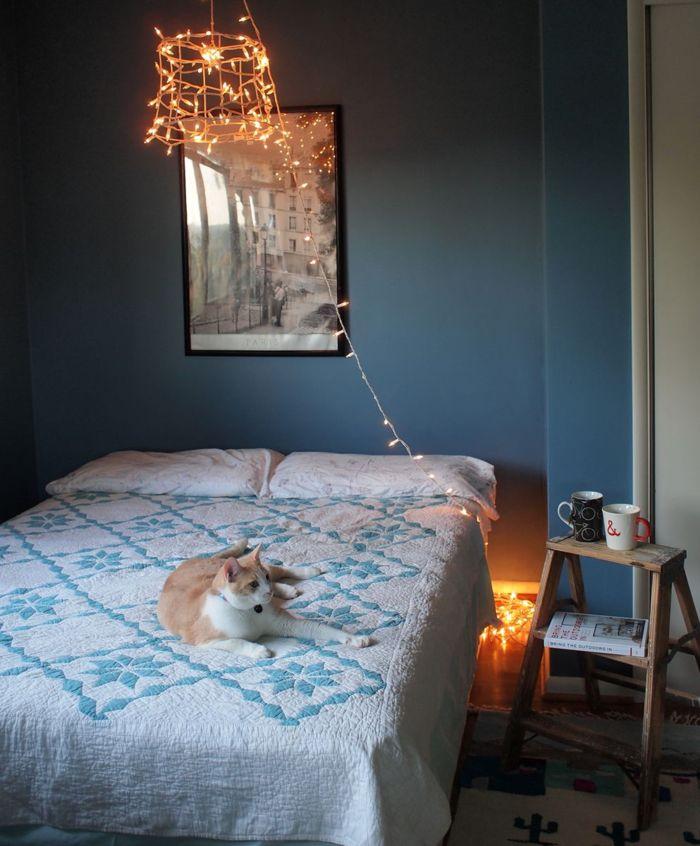 bedroom diy chandelier