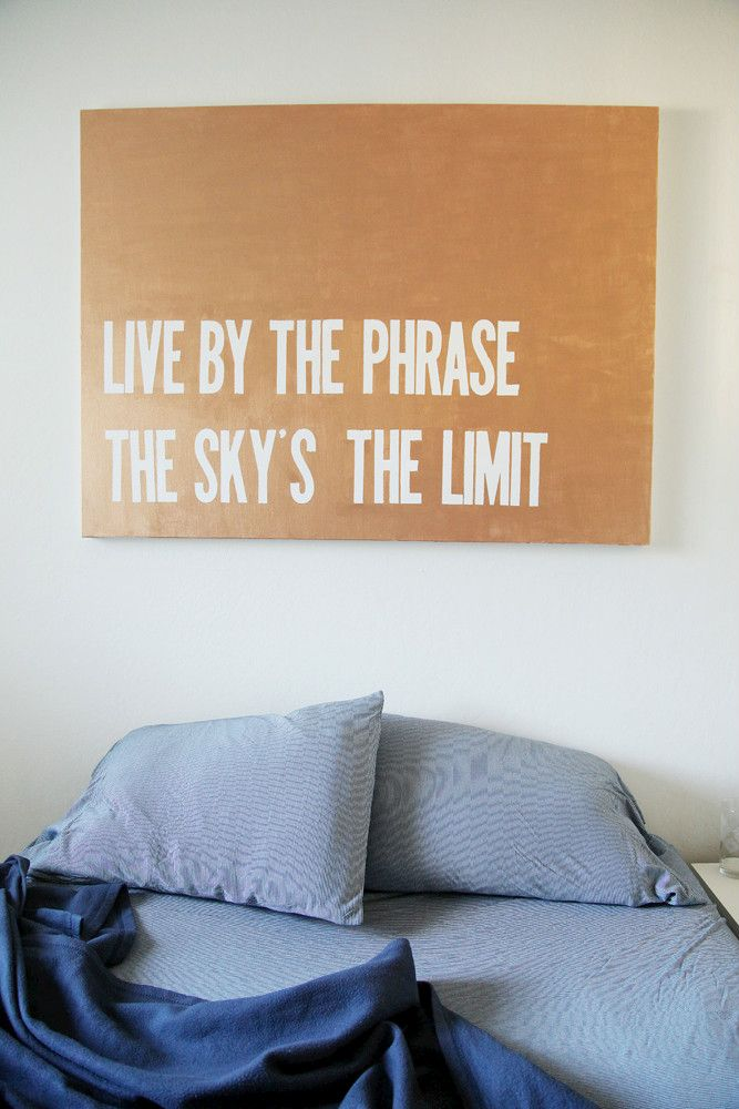 bedroom quote canvas