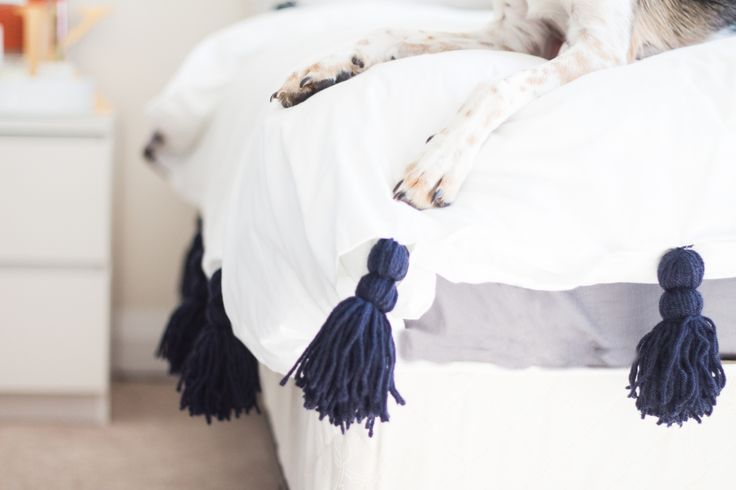 bedroom tassel bedding